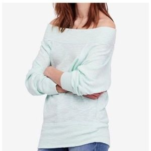 Free people Mint off the shoulder top NWT